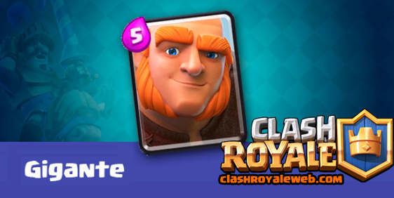 gigante carta o baraja clash royal