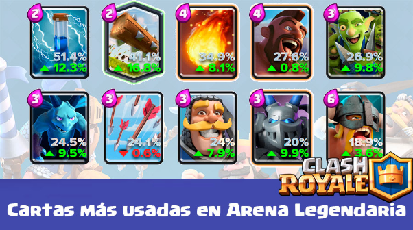 cartas mas usadas en clash royale