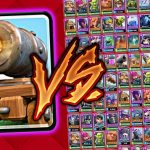 5 Cartas Clash Royale vs Cañón con ruedas