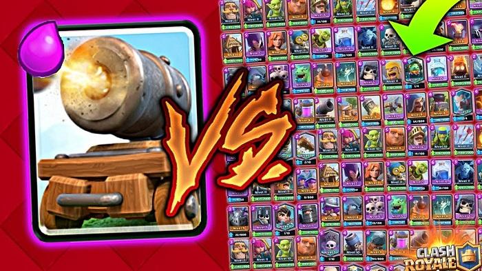 5 Cartas Clash Royale vs Cañón con ruedas