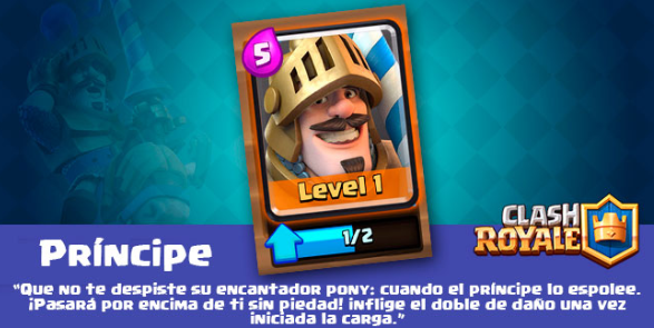 carta del principe clash royale