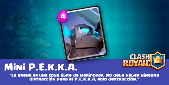 carta mini pekka clash royale
