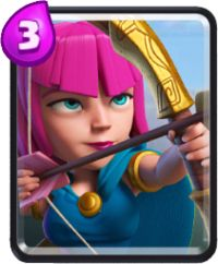 clash royale cartas arqueras