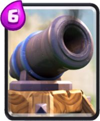 clash royale cartas cañon