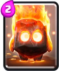 clash royale cartas espiritus de fuego