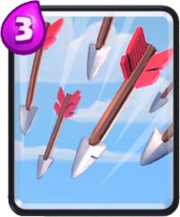 clash royale cartas flechas