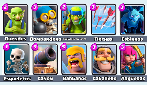 cartas comunes de clash royale