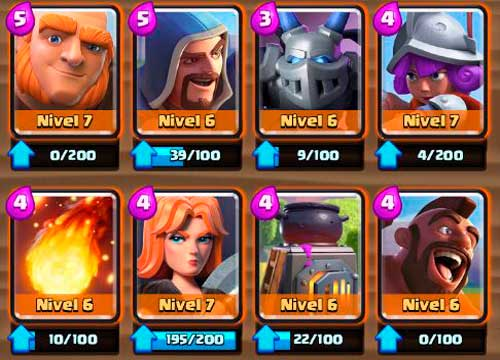 cartas especiales de clash royale