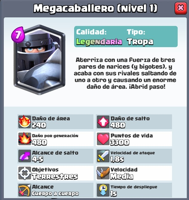 megacaballero la nueva carta legendaria