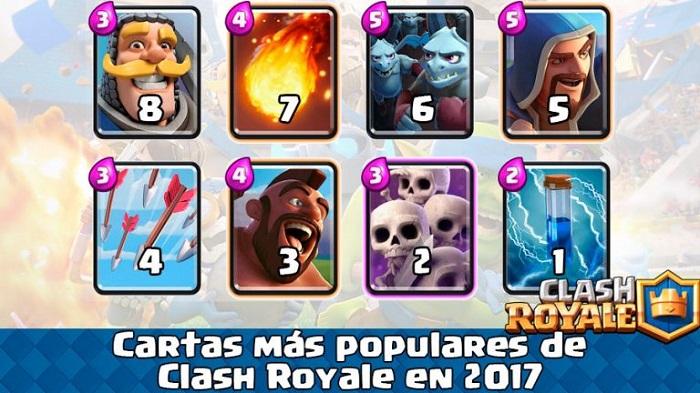cartas populares clash royale 2017